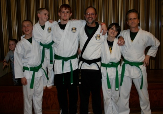 Sensei McGee with Green Belts - March 2010