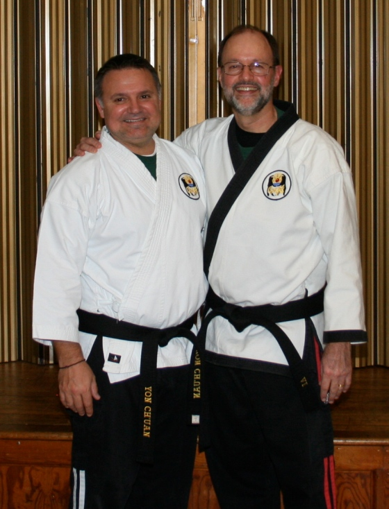 Sensei Mark and Sempai Dan at March 2010 Testing