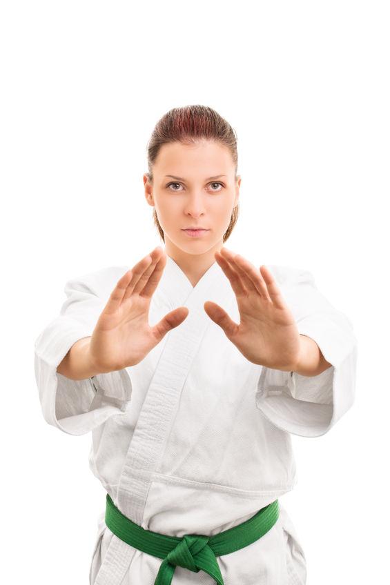 Woman Karate Stance